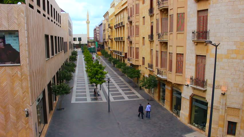 BEIRUT, LEBANON CIRCA 2013 - The recently restored downtown shopping district of Beirut, Lebanon.