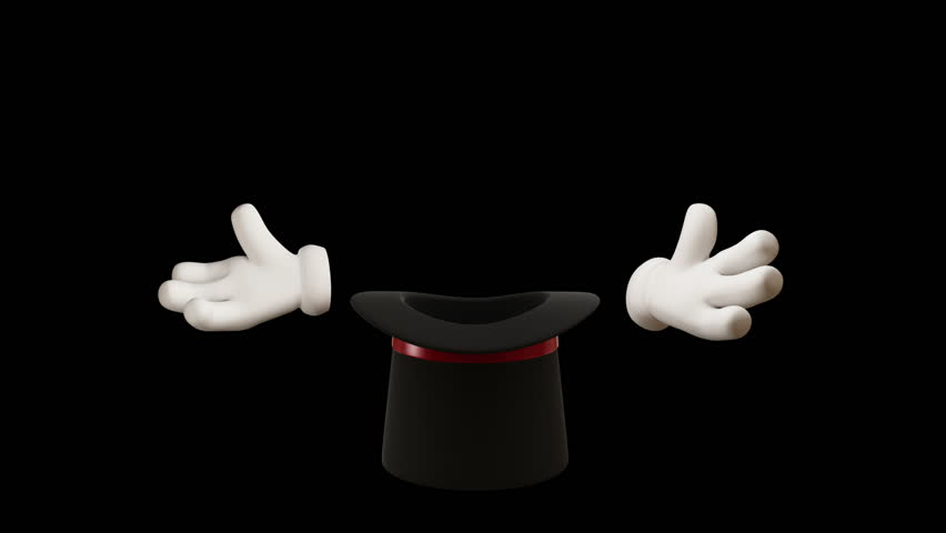 Magic Hat. Animation showing white hands which make sorcery (your element) from the cap.