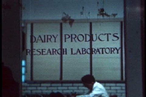 CIRCA 1940s - The dairy products research lab at the Beatrice Foods plant in Chicago in 1941.