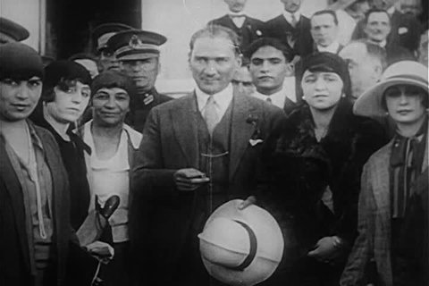 CIRCA 1920s - Mustafa Kemal Ataturk leads Turkey to independence in the 1920s.