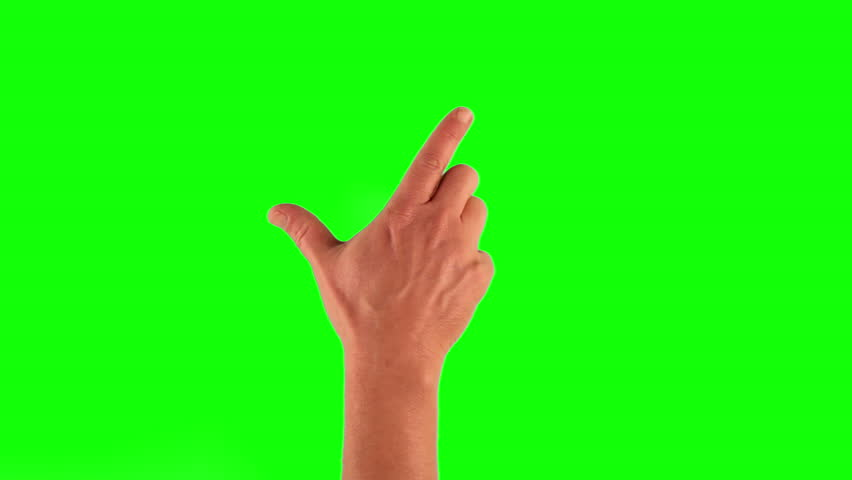 Set of 7 hand gestures, showing the uses of computer touchscreen, tablet or trackpad. Full HD with green screen. modern technology, 1080p, 1920x1080 #6308624