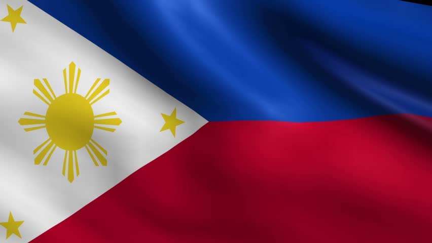 Flag of Philippines Background Seamless Stock Footage