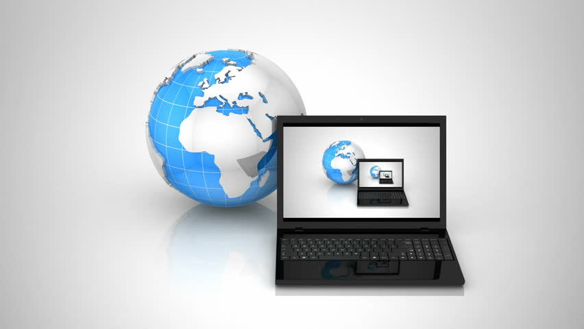 Computer Network. Gray background, loop | Shutterstock HD Video #6317591
