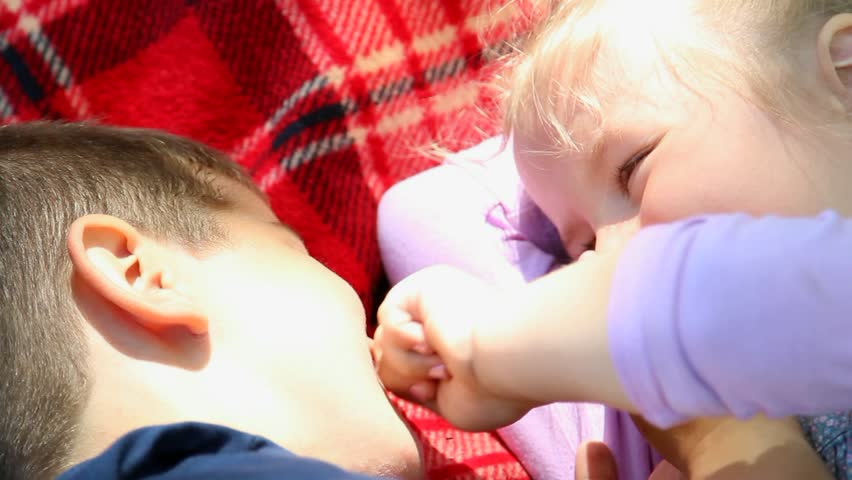 Stock video of two cute kids are kissing funny 6354674 shutterstock thecheapjerseys Choice Image