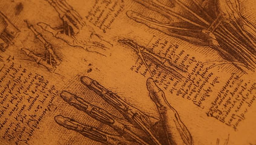 Stock video of 14th century anatomy art by leonardo | 6133082 ...