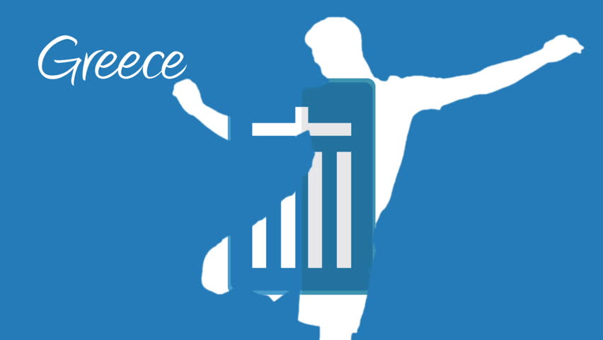 Greece 2014 animation with player in blue and white | Shutterstock HD Video #6431024