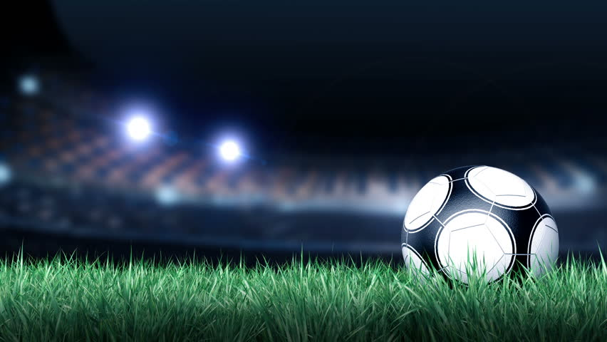 soccer ball on grass field stock footage video 100