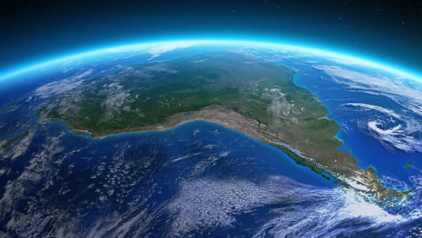 Resultado de imagen de south america from the space