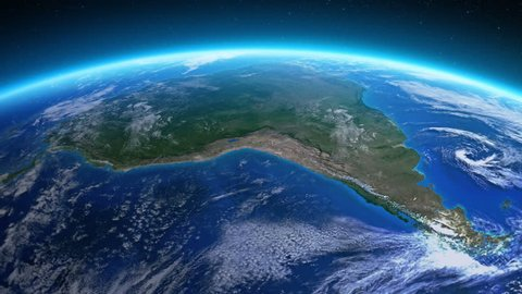 Beautiful view of the Earth over South America seen from space. MORE OPTIONS IN MY PORTFOLIO