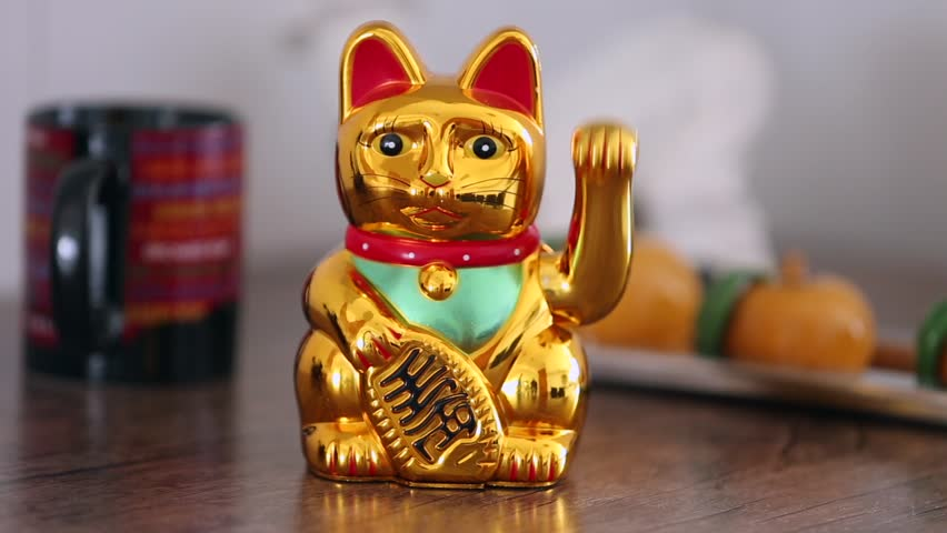 Lucky Cat on the table