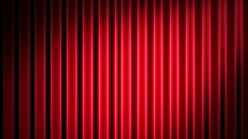 Red Theater Velvet Curtains Opening Alpha Channel Included