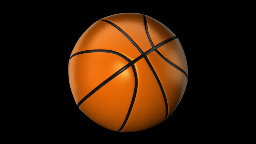 ball for basketball with realistic texture rotate on white