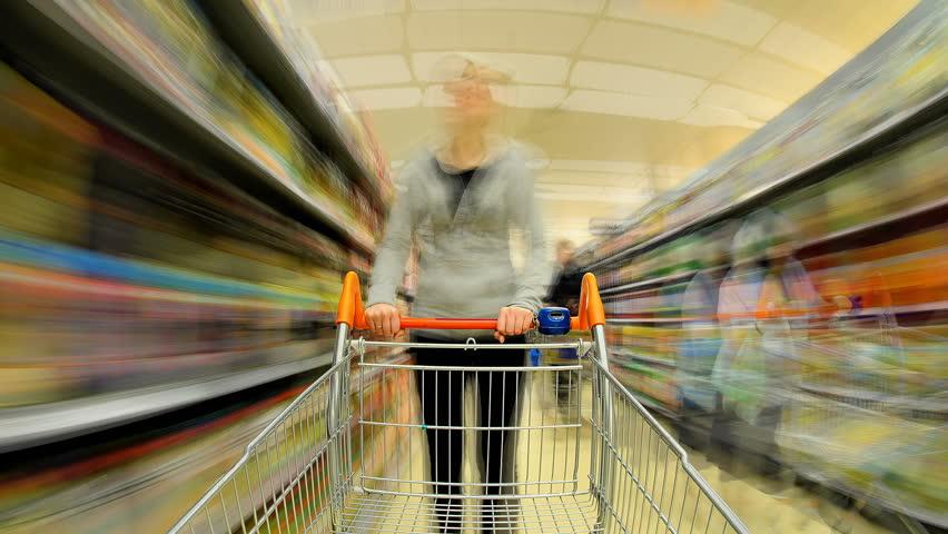 Trolley Cam Supermarket | Shutterstock HD Video #656044