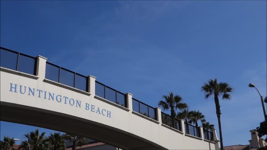 Huntington Beach Sign Stock Video Footage 4k And Hd Clips Shutterstock
