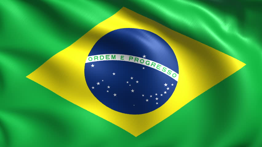 Flag Of Brazil Background Seamless Loop Animation Stock ...