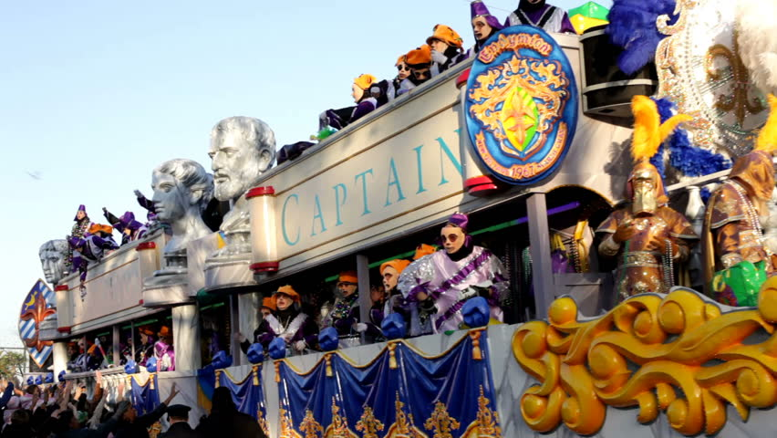 NEW ORLEANS, LA - FEBRUARY 13: Endymion Captain float in the Endymion parade throwing beads to celebrate Mardi Gras on Saturday February 13, 2010 in New Orleans, Louisiana.