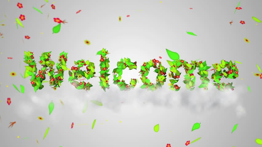 Welcome Leaves Particles Loop Animation Stock Footage