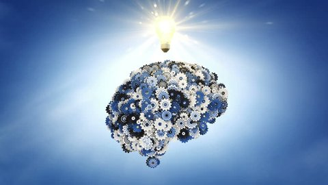 Blue Sky Thinking: clockwork brain and a moment of inspiration