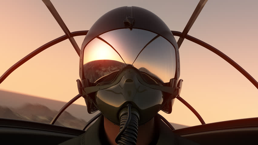 Footage Of Pilot Wearing Mask And Helmet In Cockpit Of Fighter Jet. 686_c | Shutterstock HD Video #6764092