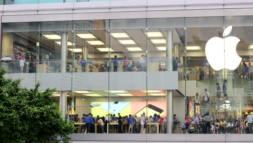 HONG KONG CHINA CIRCA JUNE Apple Store In The City Center - First shopping center in usa