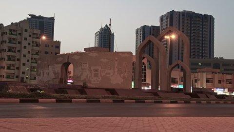 Ajman Roundabout Timelapse