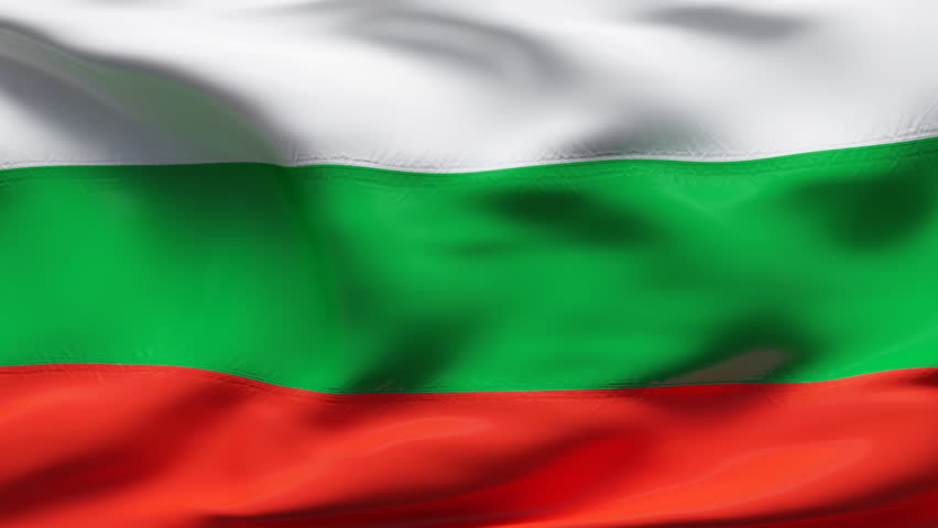 creased bulgarian satin flag with stock footage video  100