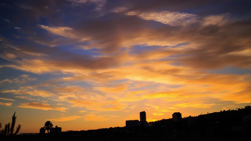 beautiful sunset sky background with stock footage video