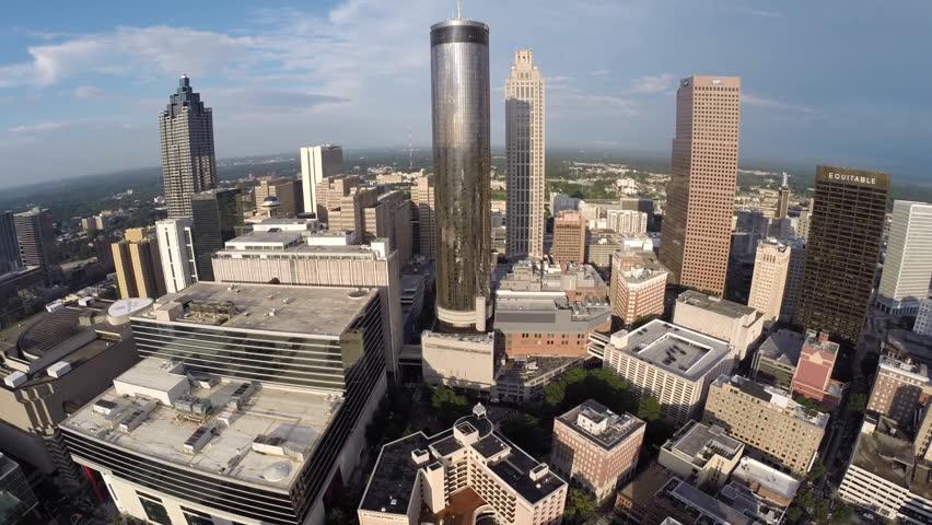 Downtown Atlanta Georgia Aerial Video Footage