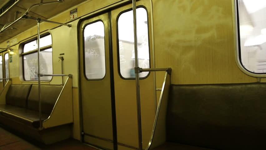 In subway train, Moscow metro (Underground), Russia | Shutterstock HD Video #6954964