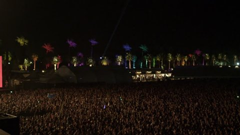Crowd at Concert - Fans in Audience in Music Show at Coachella