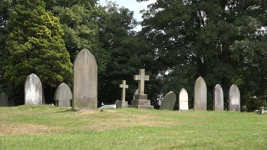 Gravestones In Churchyard Stock Footage Video 11568689