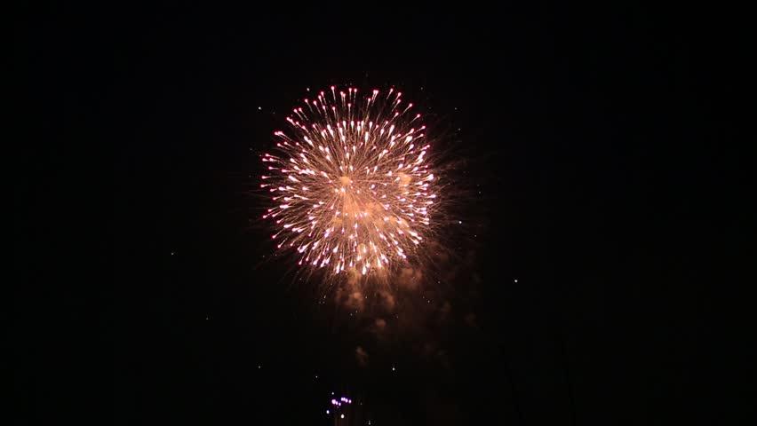 Fireworks at Edogawa fireworks festival, Tokyo, Japan | Shutterstock HD Video #7052074