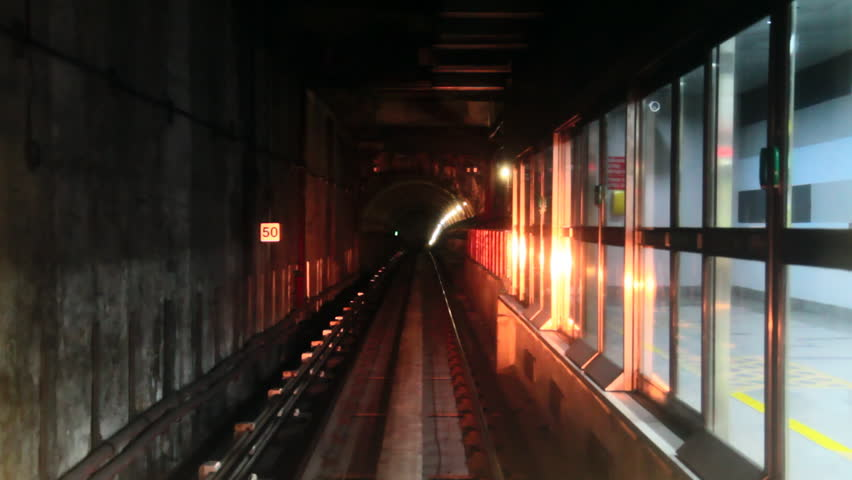 Subway railways timelapse