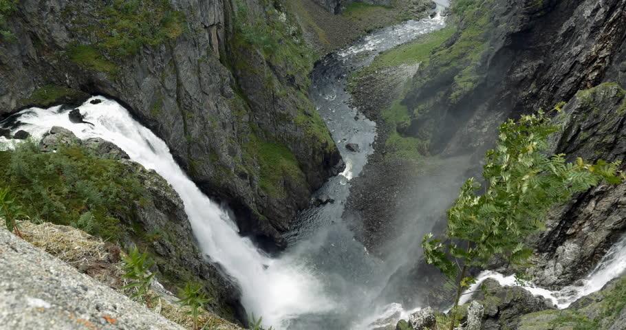 4K, Gorge, Voringsfossen Waterfall, Norway