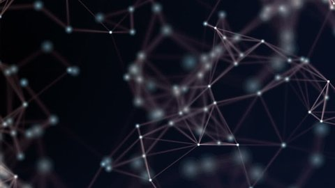 Abstract network animation. HD1080 Seamless loop