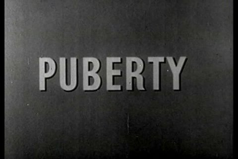 CIRCA 1950s - A silent film about what parts of the body change during puberty.