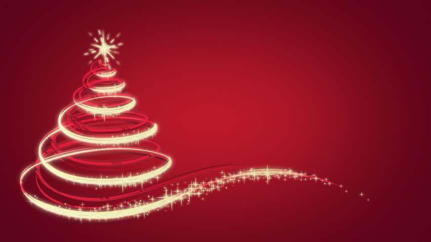 Animated Christmas tree on red