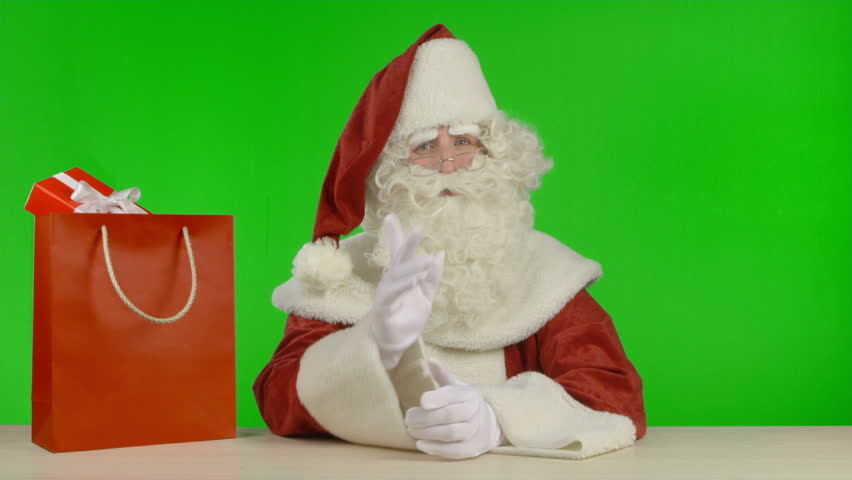 Santa Claus is Announcing that the SALE is Started | Shutterstock HD Video #7157824