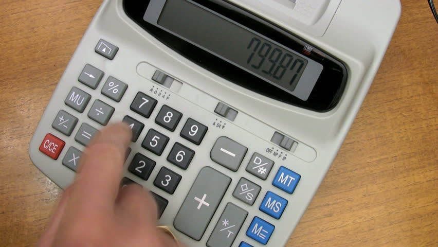 Fast Operation Of An Adding Machine Or Office Business Calculator Time Lapse Money And Finance