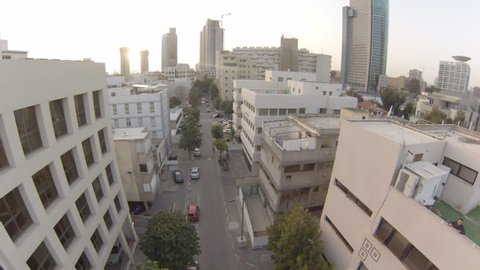 Above the roofs of Tel Aviv in the magic hour.