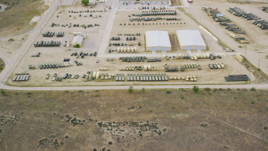 Aerial view of a Military Army base
