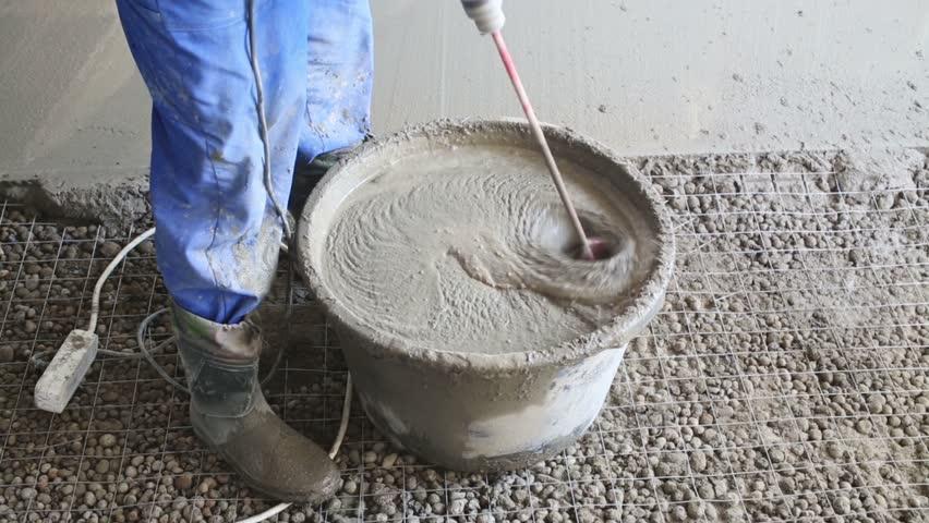 как развести раствор из цемента