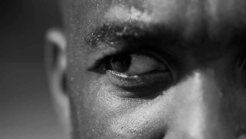 Closeup of basketball players eye #7317634