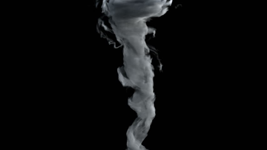 A birth of tornado, whirl, twister or whirlwind, isolated on black background, with alpha (HD, high definition 1080p, hidef, 1920x1080) | Shutterstock HD Video #7335424