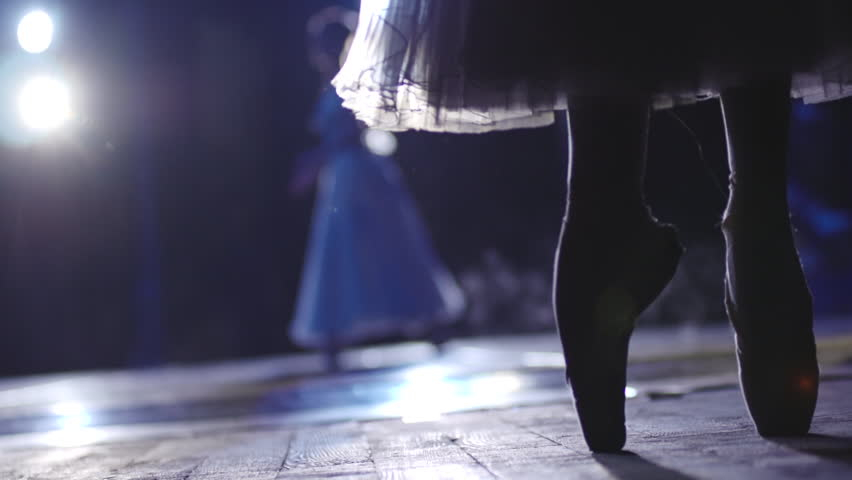 Stock video footage classical ballet ballerina on pointe   Shutterstock HD Video #7339777