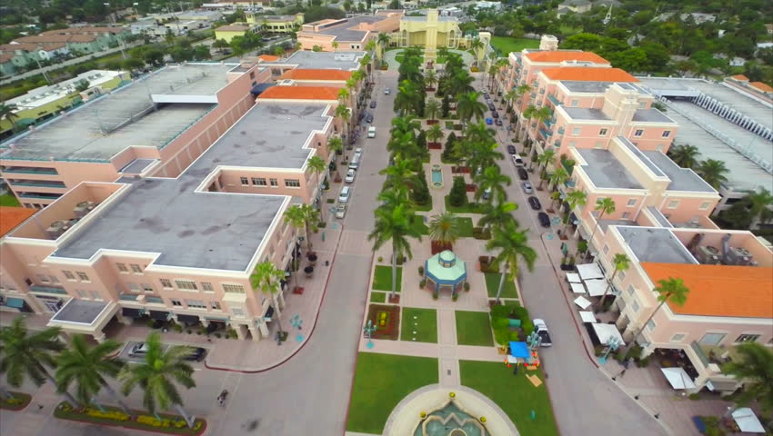K Aerial Video Of Misner Park Promenade West Palm Beach Fl  Hd Stock