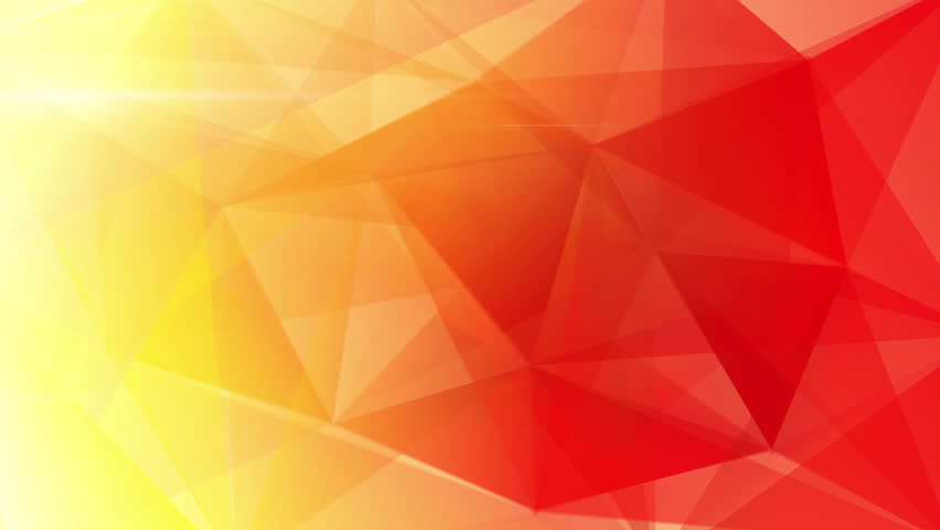 Yellow Orange Red Triangles Computer Stock Footage Video