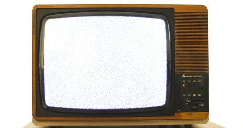 1970s Vintage television with interference. 76 years of television history came to an end at midnight on Wednesday 24 October 2012 when the analogue TV signal was switched off. (UK, July 2014)