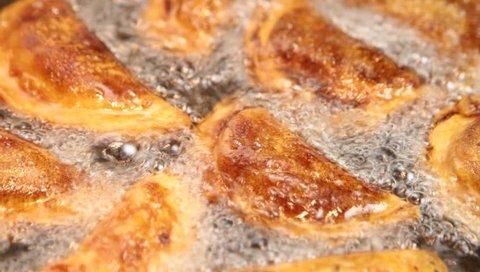 Turkish sweet tas kadayif, fried in oil ( Tash kadayif )