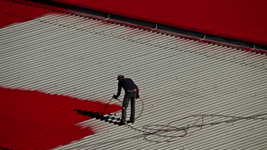 Painting A Tin Roof. Stock Footage Video 7500124 | Shutterstock